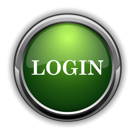 logging: Login icon. Login website button on white background
