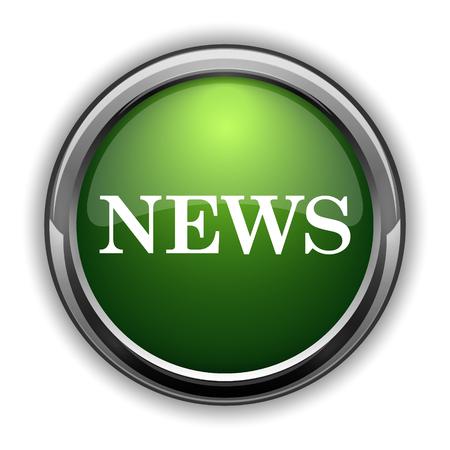 News icon. News website button on white background Stock Photo