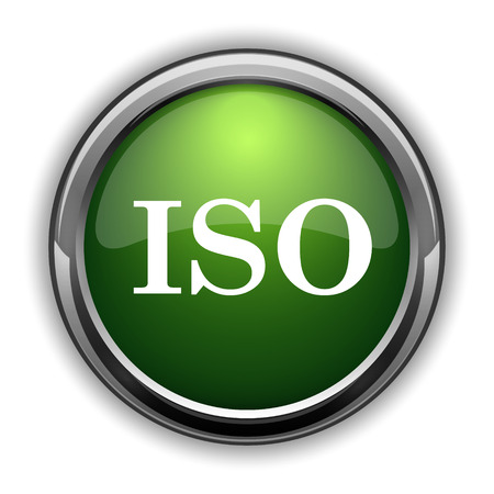 ISO icon. ISO website button on white background