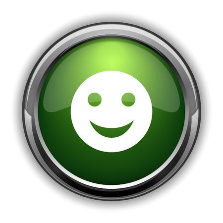 humorous: Smiley icon. Smiley website button on white background