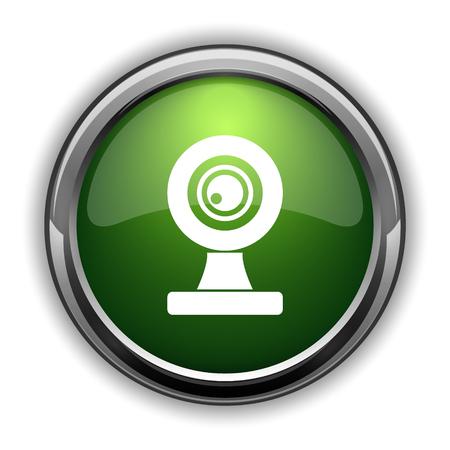 웹캠 아이콘. 흰색 배경에 웹캠 웹 사이트 단추 스톡 콘텐츠