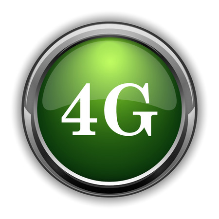 tv tower: 4G icon. 4G website button on white background Stock Photo
