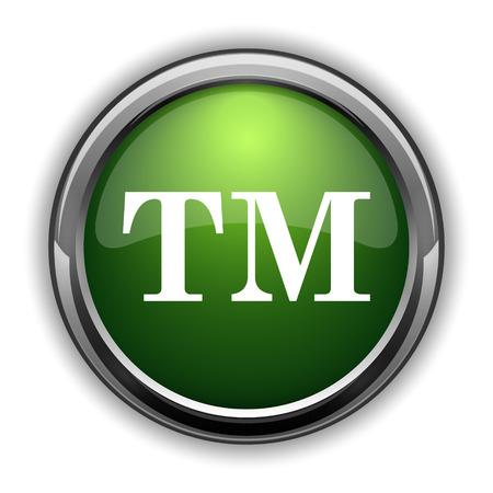 Handelsmerk pictogram. De knoop van de handelsmerkwebsite op witte achtergrond