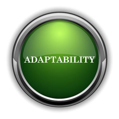 Adaptability icon. Adaptability website button on white background