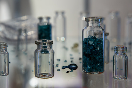ampoules: ampoules of drugs Stock Photo