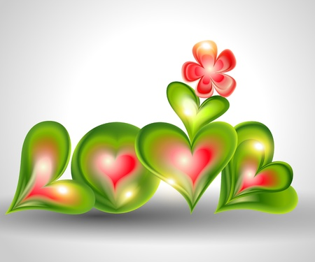 Word Love from hearts  Vector