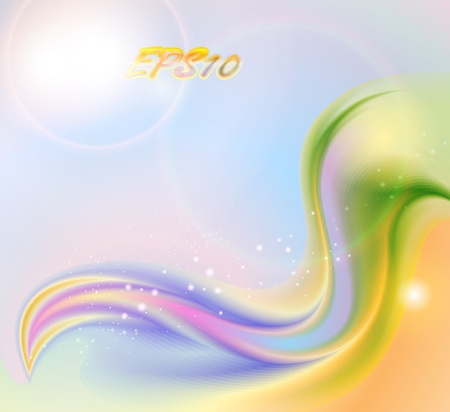 smooth curve design: Abstract colorful spring background (no mesh)
