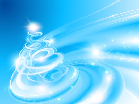 whirlwind: Abstract spiral Christmas tree Illustration