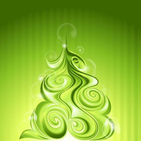 Shining abstract christmas tree Vector