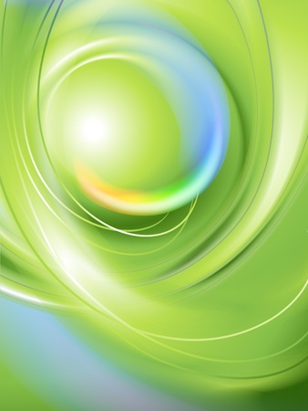 smooth curve design: Abstract green background
