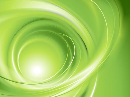 나선: 추상 녹색 배경에는 메쉬 일러스트