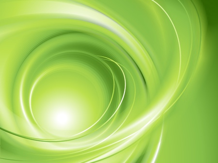 green swirl: Abstract green background  no mesh  Illustration
