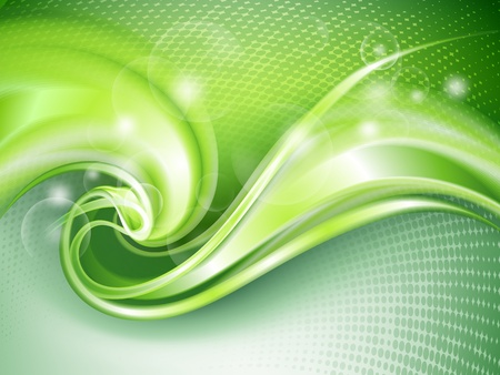 ripple effect: Abstract green background