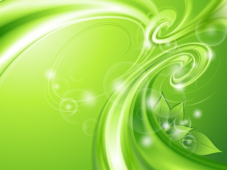 ornate background: Abstract green background with leaves
