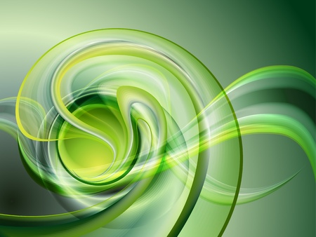spirals: Abstract green background  no mesh  Illustration