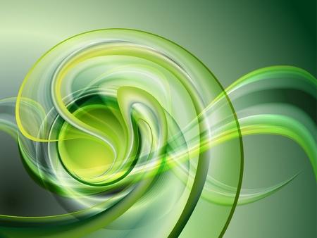 spiral: Abstracte groene achtergrond geen gaas Stock Illustratie