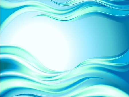 Abstract sea wave background Vector