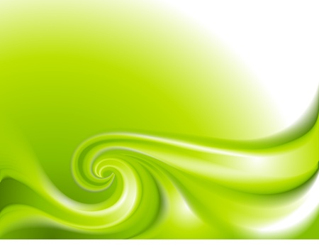 Abstract green background with swirl Stock Vector - 13032771