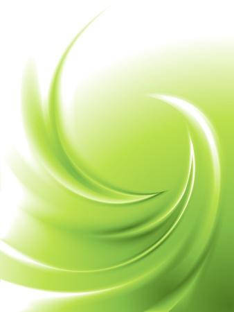 抽象的な緑色の旋回  イラスト・ベクター素材