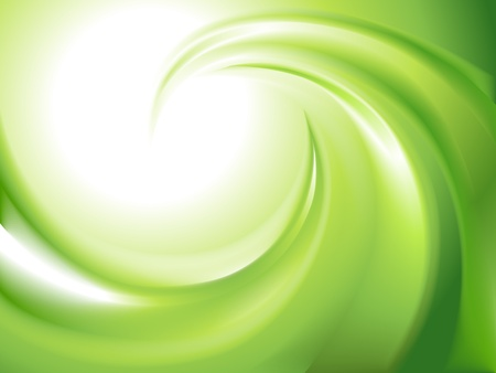 Abstract green swirl  no mesh  Vector