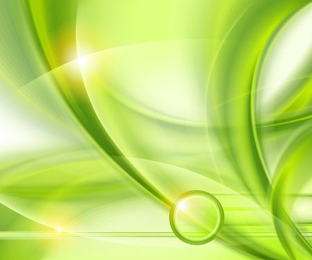 ripples: Abstract green background