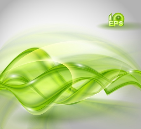 green power: Abstract green waving background