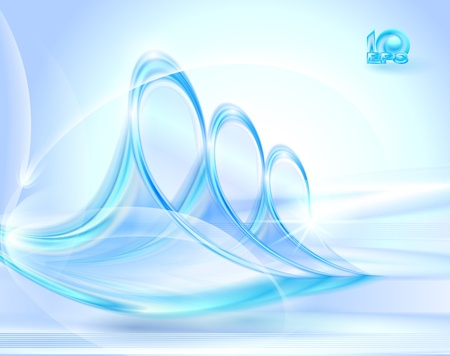 Abstract blue background with glass swirls Stock Vector - 13100198