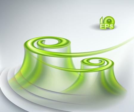 rippled: Sfondo astratto con turbinii verde Vettoriali