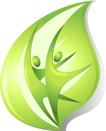 life partner: Eco-icon with green dancers