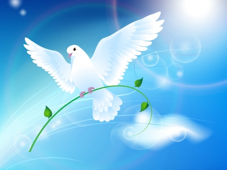 Dove of Peace in the sky Vector