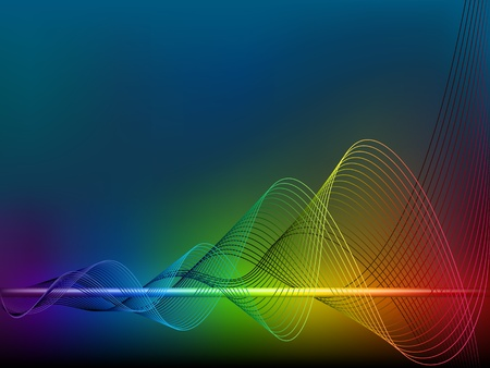 Rainbow  wave lines Stock Vector - 13548143