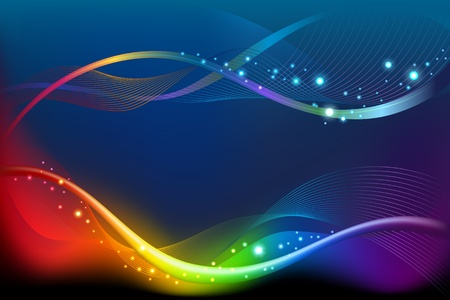 Abstract rainbow background Stock Vector - 13548145