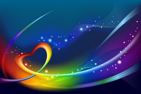 Abstract rainbow background Stock Vector - 13548150