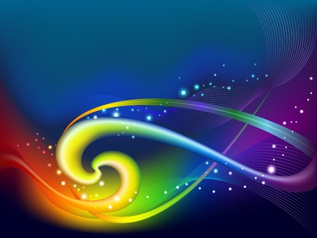 Abstract rainbow background Stock Vector - 13548149