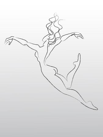 Croquis de voler et de la danse femme