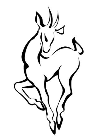 doe: Sketch of doe Illustration