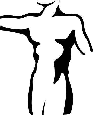 Sketch of man torso Stock Vector - 13548111