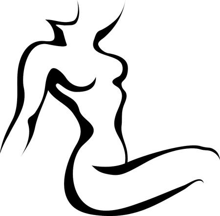naked woman: Эскиз женщина торс