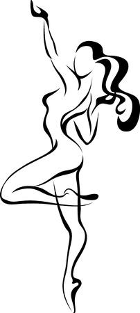 Dancing woman Illustration