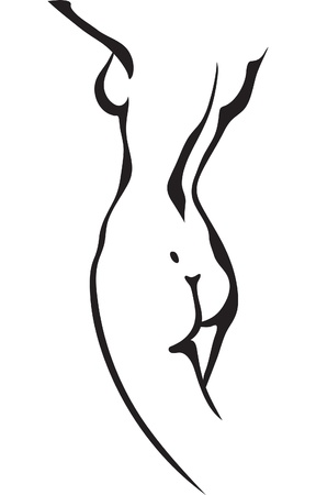 Sketch of woman torso Stock Vector - 13548087