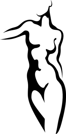 Sketch of woman torso Illustration