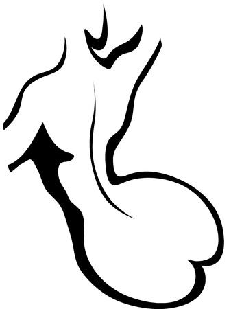 Sketch of woman torso