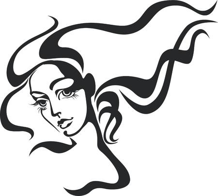 Beautiful woman face Stock Vector - 14021096