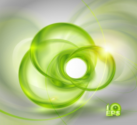 Abstract green background with glass round shapes  no mesh  Stock Vector - 14479499