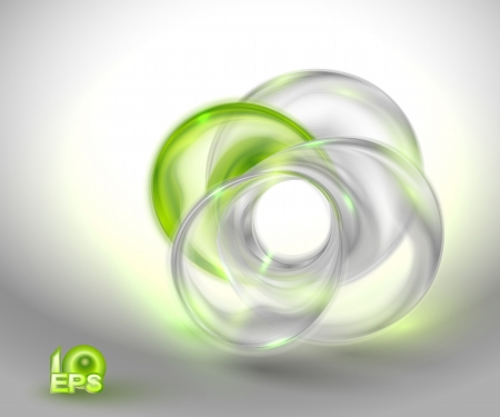 smooth shadow: Abstract green background with glass round shapes  no mesh