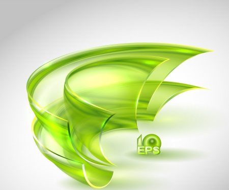 Abstract green background with glass round shapes  no mesh  Vector