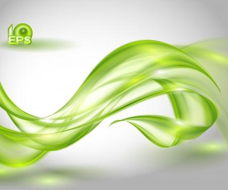 Resumen de fondo verde, ondeando