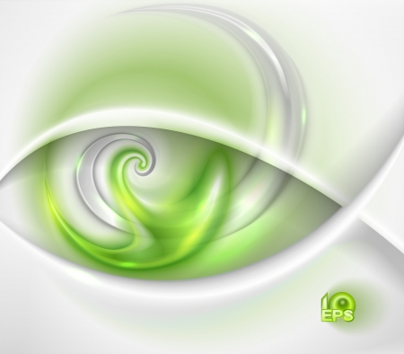 abstract eye: Abstract green background