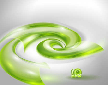 Abstract background with green swirl Stock Vector - 15258890