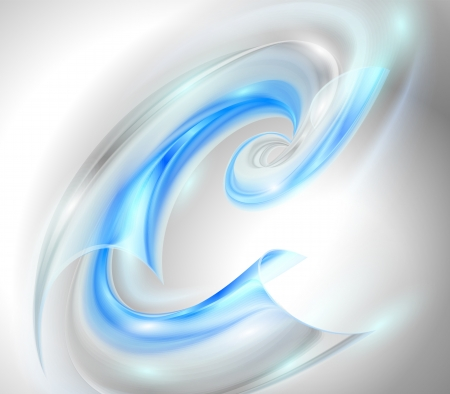 Abstract background with blue swirl